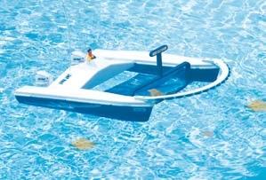 recogehojas-catamaran-control remoto